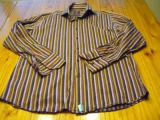 Hawes Curtis York Slim Fit Long Sleeve Button Front Shirt Size Adult L