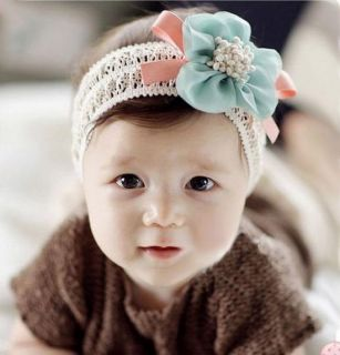 Korean Chiffon Flower Hollow Hair Band Baby Elastic Headband