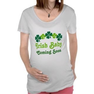 Irish Baby Coming Soon Pregnancy Tee