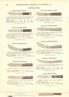 1917 Hill City Samuel Lee Butcher Knife Cutlery Ad