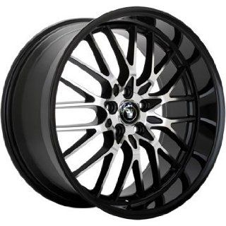 Konig Lace 18x8 Black Wheel / Rim 5x4.5 with a 45mm Offset and a 73.00
