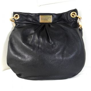 Marc by Marc Jacobs Classic Q Hillier Black Leather Hobo