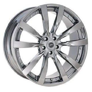 JR DMP 17x8.5 Black Chrome Wheel / Rim 5x4.5 with a 25mm Offset and a