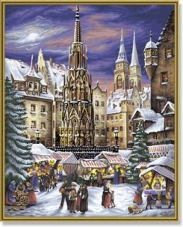 Christmas Market Paint By Number Kit Toys & Games