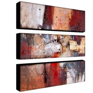 Cube Abstract by Rio Canvas Art (Set of 3) Number V