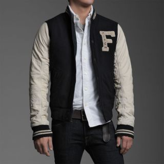 Abercrombie Fitch A F Indian Falls Mens Jacket in Dark Heather Grey
