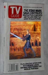 Star Wars Episode II TV Guide Set of 3 Hologram Natalie Portman Darth