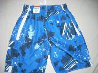 Hang Ten Mens Bathing Suit Swim Suit Trunks New Blue