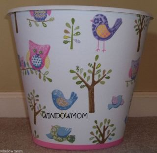 HAYLEY Owl Bird Wastebasket made with pottery barn kids girls trees