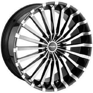 Panther Spline 22x8.5 Machined Black Wheel / Rim 5x115 with a 20mm