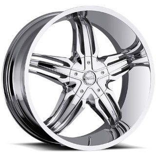 Milanni Phoenix 24 Chrome Wheel / Rim 6x5.5 with a 20mm Offset and a