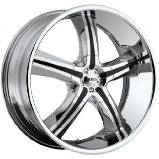 Boss 334 22x9.5 Chrome Wheel / Rim 5x5.5 with a 14mm Offset and a 108