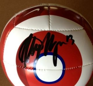 Seattle Sounders and USA Womens Soccer Alex Morgan Signed Mini Soccer