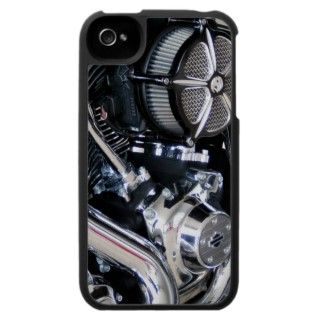 Motorcycle engine chrome mechanical biker photo case for the iPhone 4
