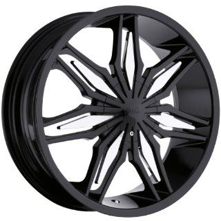 Milanni Stalker 22 Black Wheel / Rim 5x4.5 & 5x4.75 with a 38mm Offset