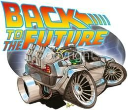 Future DeLorean Muscle Car Cartoon Tshirt 1617