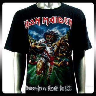 Iron Maiden Heavy Metal Rock Punk T shirt Sz M Biker Rider Ir38