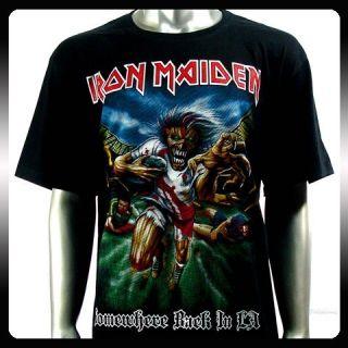 Iron Maiden Heavy Metal Rock Punk T shirt Sz M Biker Rider Ir38