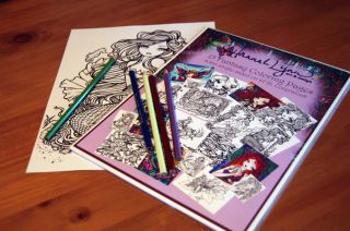Coloring Book Pages Fairies Mermaids Vampires Hannah Lynn Art Vol 1