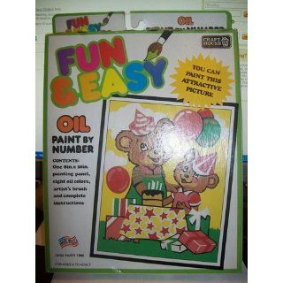 Fun & Easy Oil Paint By Number Kit Kitten Toys & Games