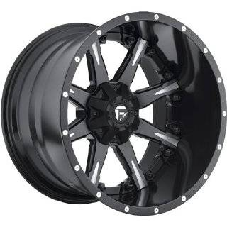 Fuel Nuts 22 Black Wheel / Rim 8x6.5 with a  70mm Offset and a 125.2
