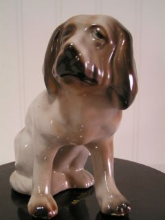 Antique Vintage St Saint Bernard Dog Figure Figurine, China Porcelain