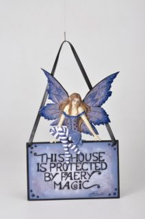 Amy Brown This House Is Protected by Faery Magic Fairy Door Wall