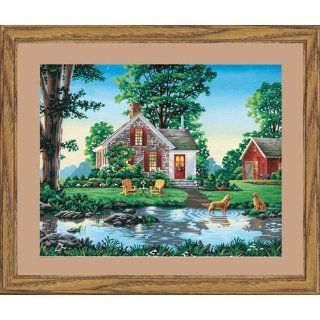 Dimensions Paint By Number Kit, Summer Cottage, 16 Inch by