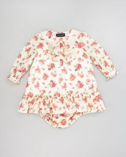 Lauren Childrenswear Floral Ruffle Dress, 12 24 Months