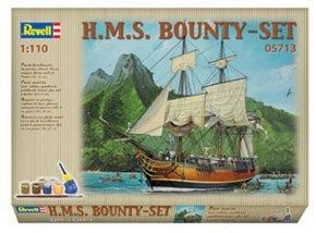 REVELL HMS BOUNTY SET 05713 BOAT MODEL KIT WITH PAINTS AND GLUE