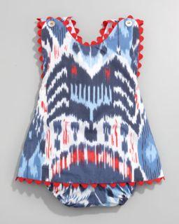 Z0WZC Oscar de la Renta Ikat Print Dress & Bloomers
