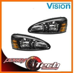 NEW 04 08 PONTIAC GRAND PRIX HEADLIGHTS HEADLAMPS PAIR SET NEW