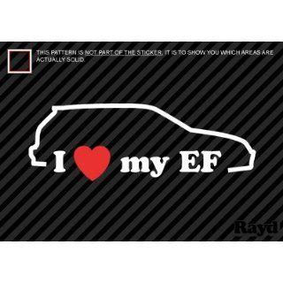 I Love my EF   Sticker #2   Decal   Die Cut Everything