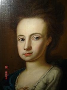 Antique Huge English J Highmore Oil Painting Family Portrait Ryan Coat