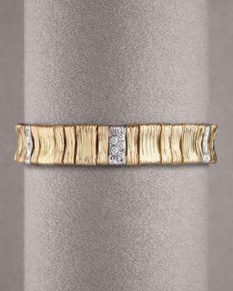 Roberto Coin Yellow & White Gold Bracelet, Narrow