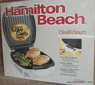 HAMILTON BEACH Health Smart Indoor Grill BRAND NEW Nonstick   Model