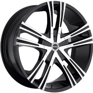 Strada Primo 22 Black Wheel / Rim 5x4.5 & 5x120 with a 18mm Offset and