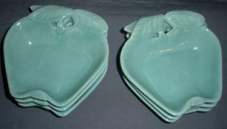 hoenig california pottery aqua apple bowls vintage