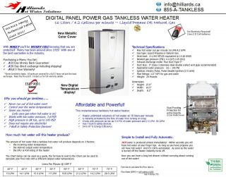 Marey Digitial Panel Power Gas 111 903 BTU Tankless Water Heater in LP