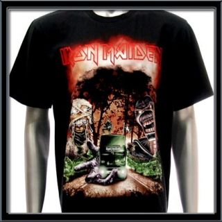 MAIDEN T shirt Heavy Metal Rock Rider EN VIVO Tour Run To The Hills