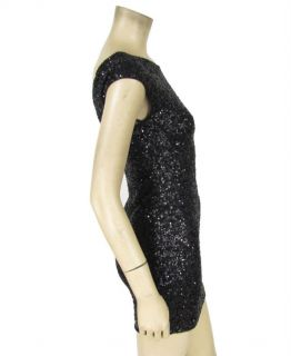 Heartloom Black Sequin Mini Dress s Sleeveless Holiday Party Cocktail