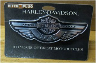 Harley Davidson 100th Anniv Hitch Plug Cover Very New