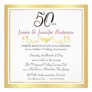 50.o Invitaciones de la fiesta de aniversario del Comunicado de
