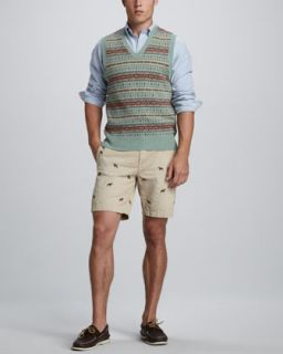 Polo Ralph Lauren Fair Isle Sweater Vest, Custom Fit Button Down Shirt