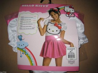 NWT GIRLS HELLO KITTY HALLOWEEN COSTUME SIZE MEDIUM