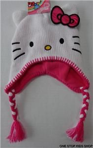 hello kitty girls laplander costume hat cap beanie