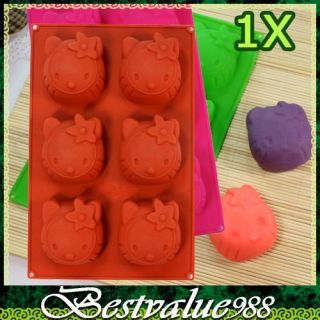Hello Kitty Silicone Cup Cake Pudding Muffin Mold Mould