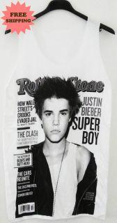 Justin Bieber R B Pop Hip Hop Tank Top Vest Singlet Tee T Shirt FREE