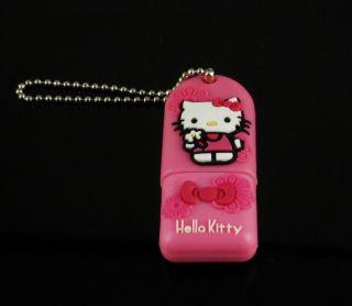 4G 4GB Hello Kitty USB Drive Flash Pen Drive Pink U4