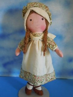 16 Knickerbocker Heather Cloth Rag Doll All Original from Holly